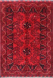 Afghan Fine Old Kundos Red 142090
