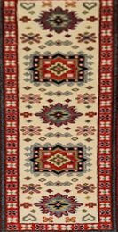 Indian Indo Kazak Runner Cream 142131